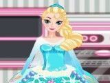 Fazer bolo da princesa Elsa