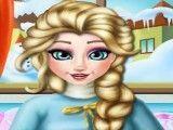 Elsa grávida cuidar do pé