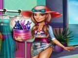 Garota moda praia