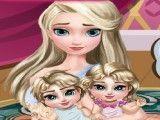 Elsa cuidar dos bebês gêmeos