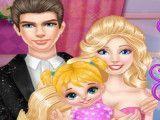 Barbie e Ken cuidar da bebê