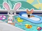 Limpeza da piscina Zootopia