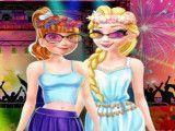 Anna e Elsa festa de verão