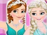 Elsa e Anna roupas da festa de casamento