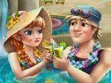 Limpeza de pele da Anna na piscina