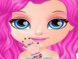 Bebê Barbie pintar unhas glitter