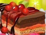 Fazer torta de chocolate com cereja