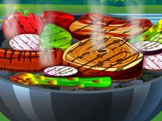 Fazer carne e legumes assados