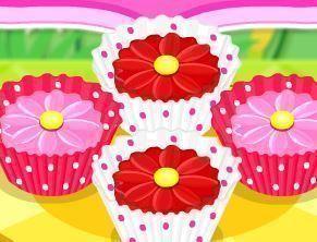 Fazer cupcakes de flores para mamãe