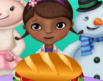 Fazer hambúrguer da Doutora dos Brinquedos