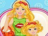 Barbie costurar roupas mãe e filha