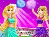 Líder de torcida Aurora e Rapunzel