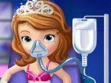 Princesa Sofia no médico fazer cirurgia