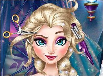 Filme Frozen Elsa no cabeleireiro