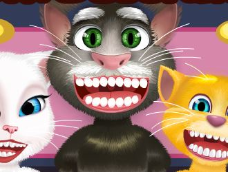 Gato Tom e amigos no dentista