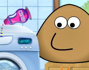 Lavar roupas do Pou