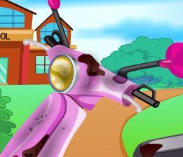 Limpar moto da Barbie