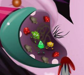 Limpar ouvido da Monster High Draculaura