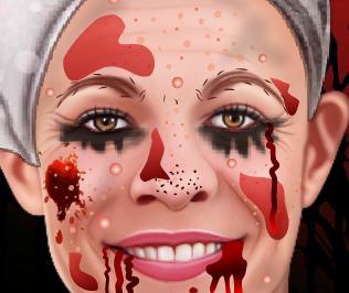 Limpeza de pele do terror