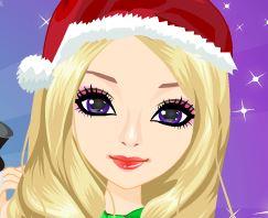 Maquiagem de Natal para meninas