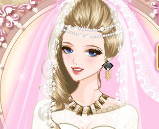 Maquiar e vestir noiva princesa