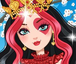 Maquiar Ever After High Lizzie