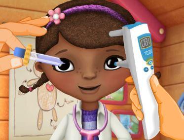 Médico dos olhos da Doutora dos brinquedos