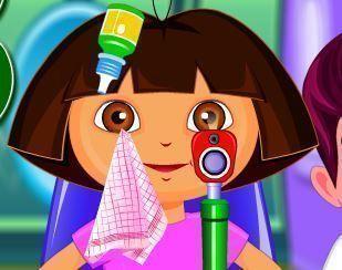 Médico dos olhos para Dora