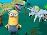 Minions no cenário do Jurassic Park