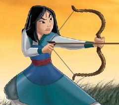 Mulan arco e flecha