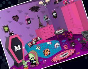 Novo quarto da bebê Monster High