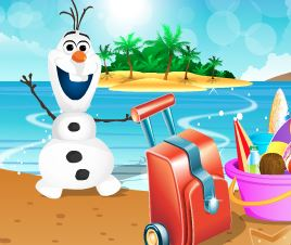 Olaf férias na praia
