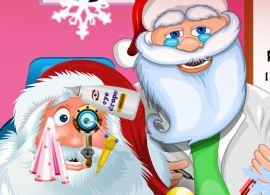 Papai Noel cuidado com os olhos