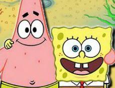 Patrick e Bob Esponja no labirinto