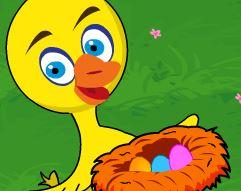 Pegar ovos para o pato