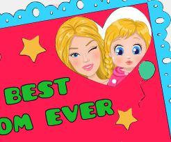 Pintar cartão da Barbie para mamãe