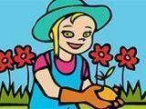 Pintar desenho da jardineira