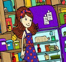Pintar desenho da pequena cozinheira