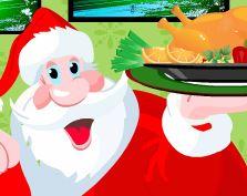 Preparar peru de Natal com Papai Noel
