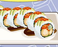 Preparar receita de sushi