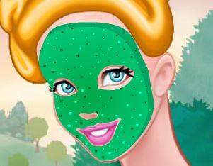 Princesa Cinderela tratamento de pele