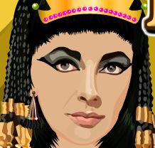 Princesa egípcia no cabeleireiro