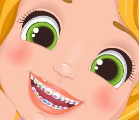 Princesa Rapunzel no dentista