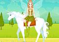 Produzir a menininha para andar de cavalo