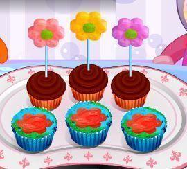 Receita de cupcakes decoração de flores
