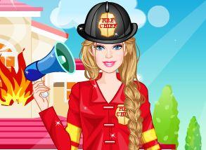 Roupas de bombeiro da Barbie