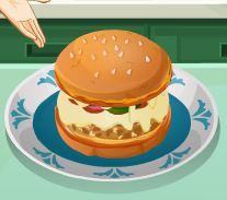Sara receita de hambúrguer sabor pizza