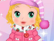 Sopa e roupas de inverno para bebê