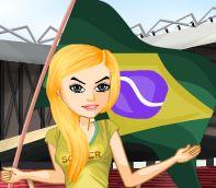 Torcedora do Brasil na moda