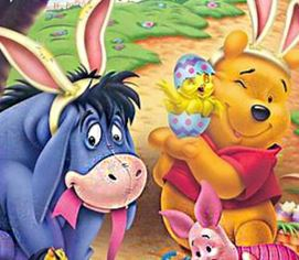 Ursinho Pooh achar diferenças da Páscoa